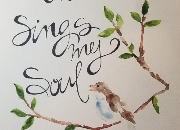 Printer Poster - Then Sings My Soul