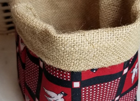 Basket-Soft- Red/Blk 'luili pende' BF Fabric