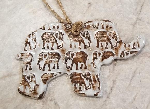 Elephant Ornament Med #64