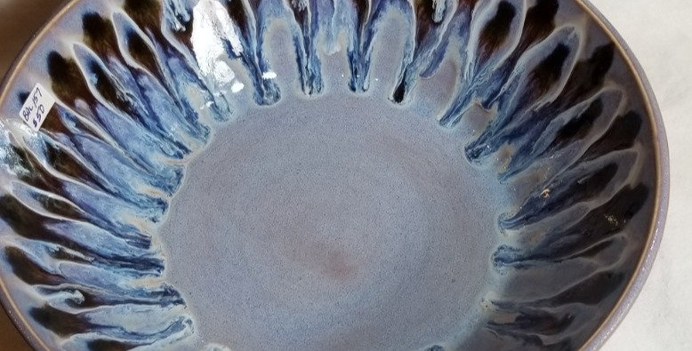Peacock Tecnique Bowl - Lavender & Brown