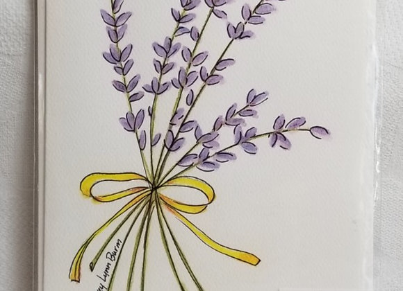 Card Watercolour #WCC-5 - Lavender