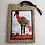 Thumbnail: Bookmark/Ornament - Standing Crane