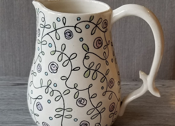 #P156 - Carved Watercolour Pitcher