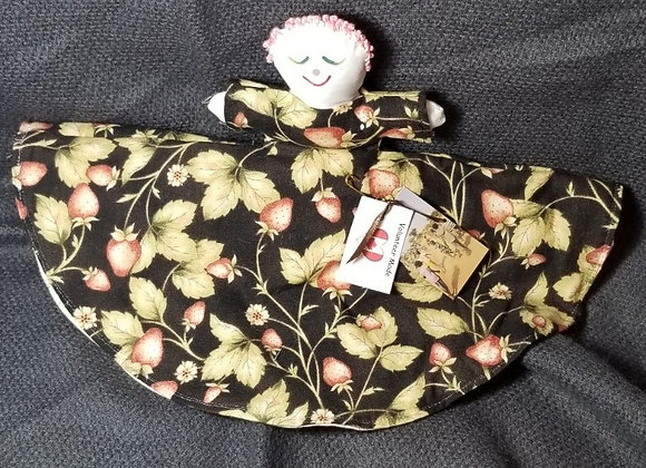 Topsy Turvy Doll - Strawberry/Cream & Green Print