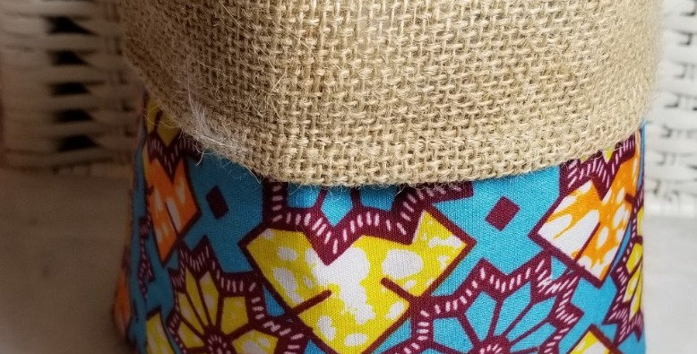 Basket-Soft-Orange/Yellow/Turq BF Fabric