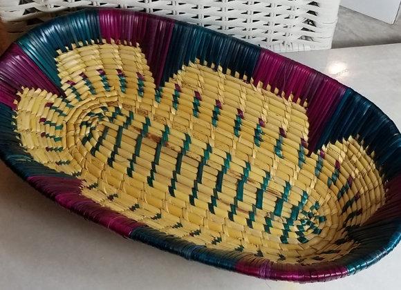 Basket - Grass - Blue/Fushia