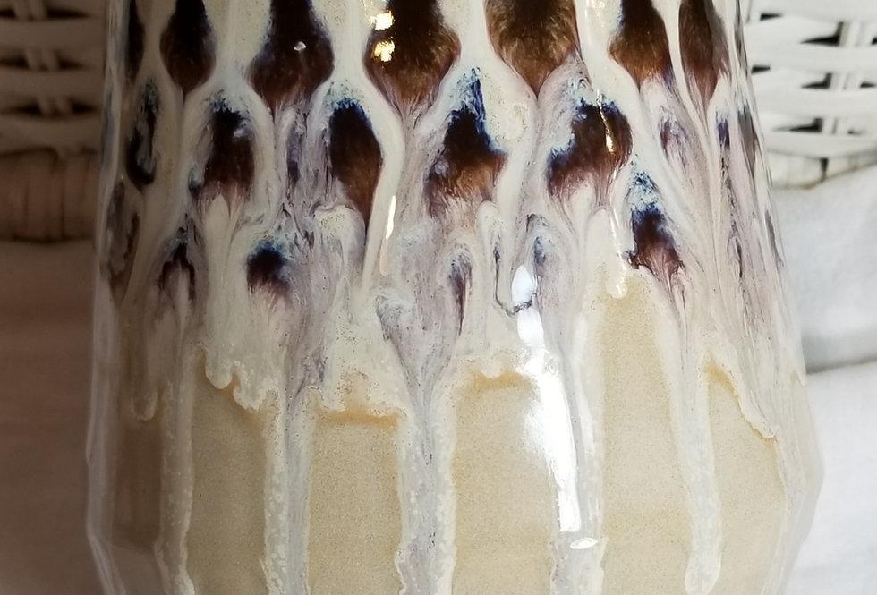 Vase - Peacock Feather Tech - Cream