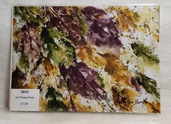 Photo Print 5x7 #FPF-4 - Leaves