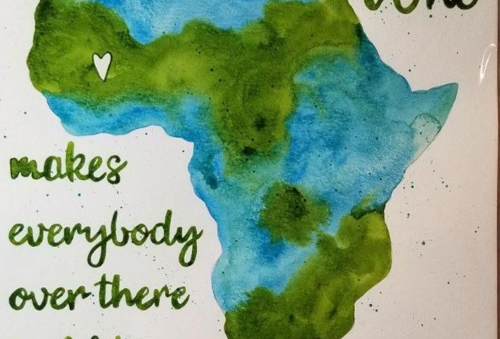 Printer Poster - Be Somebody Who - Blue & Turq