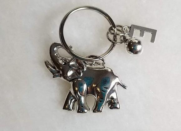 Keychain - Elephant - Silver