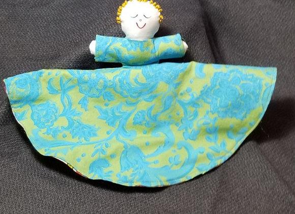 Topsy Turvy Doll-Turq & Green/Bright Sew Pttrn
