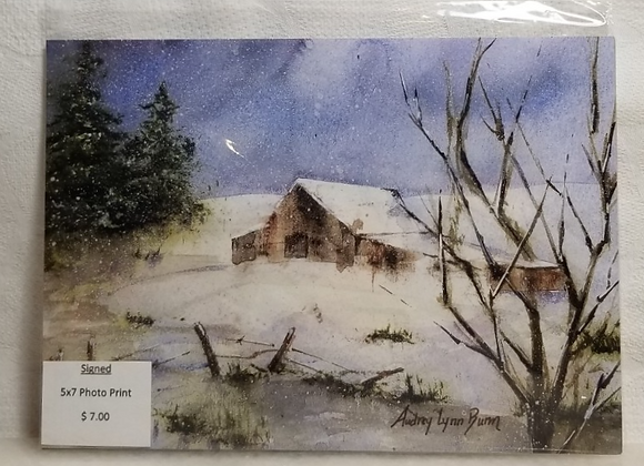 Photo Print 5x7 #FPF-2 - Winter Scene