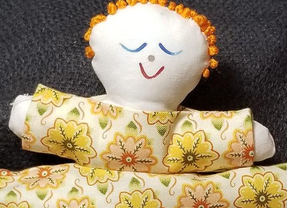 Topsy Turvy Doll-Yellow Flwr/Teal Flwr