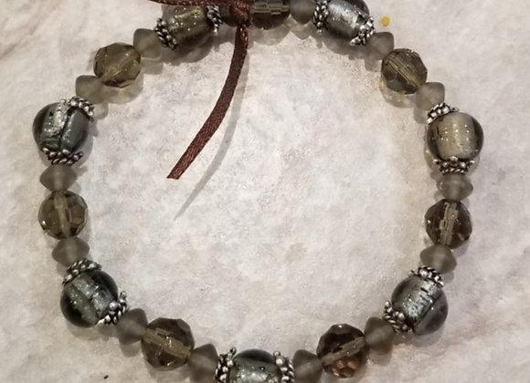"""Bracelet Stretch Grey #B-55 - 7 """""""