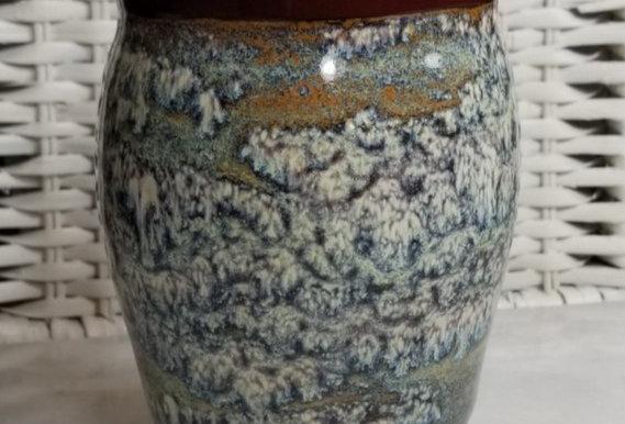 Vase #P38 - Burgundy & Mottled