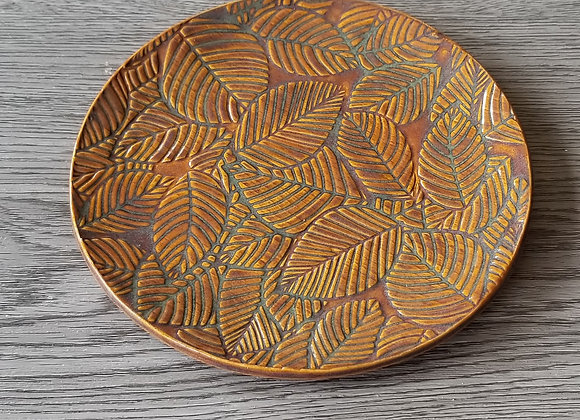 #P154 - Leaf Embossed Plate