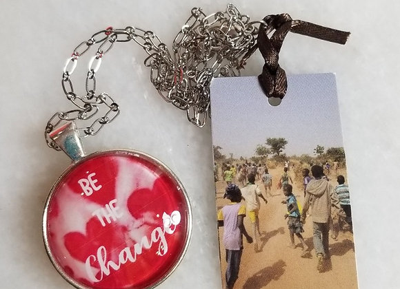 """Necklace - Be the Change - Hearts 21"""""""