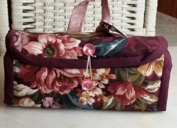 Pack-it Pouch #PP-8 - Burgundy Floral