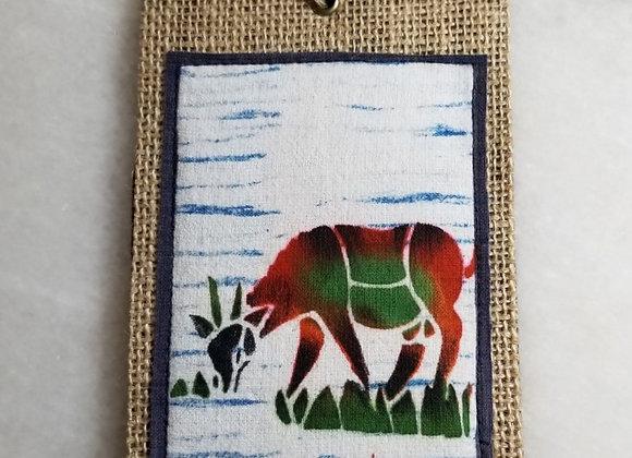 Bookmark/Ornament - Grazing Horned Goat