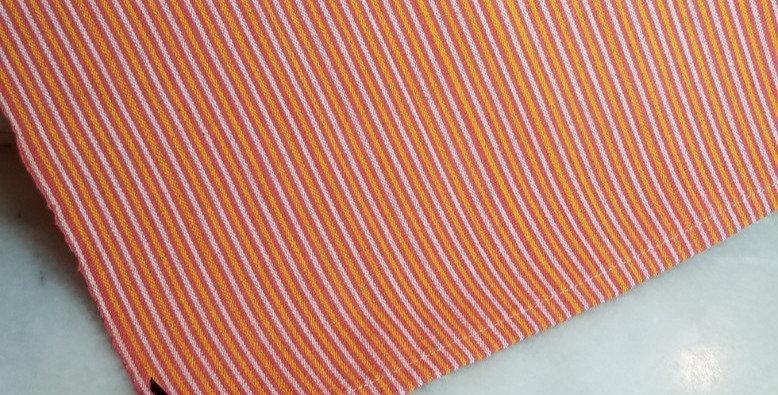 Weaving - Coral/Yellow/White