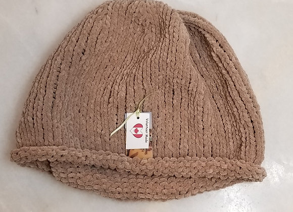 Toque Knit  #KC-25 - Taupe Acrylic