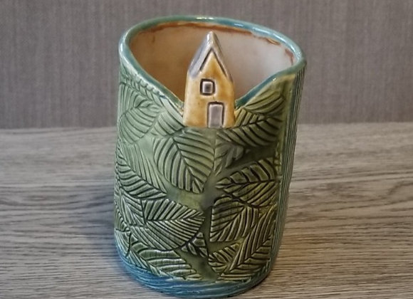 Little HouseVessel #P-77-Amber House, Grn Vessel