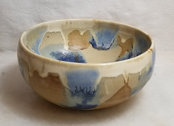 Splashy Bowl #P-55 - Blue & Brown