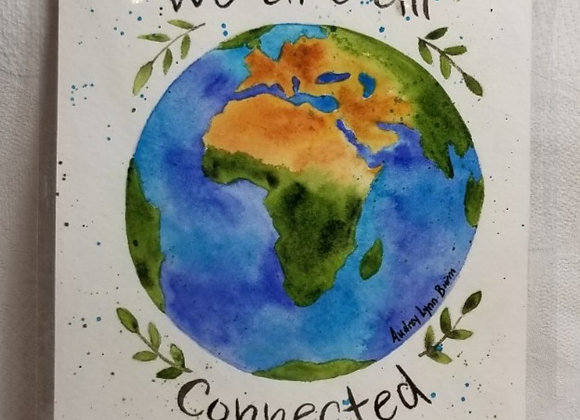 "Watercolour 5""x7"" #WCS-5 - We are All Connected"