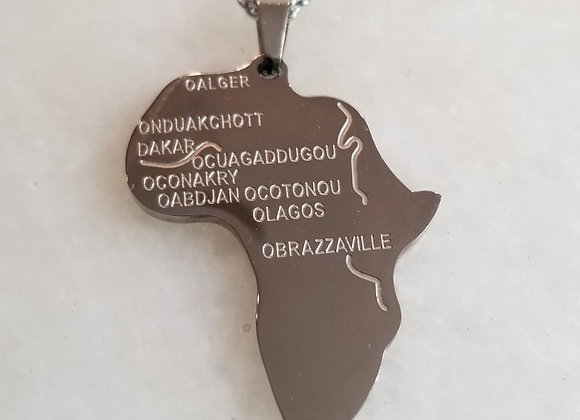 Necklace  - Africa w O Cities - 20""