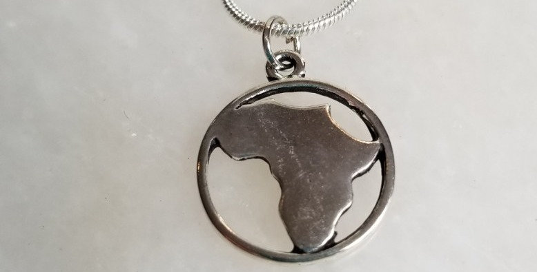 Necklace  - Africa Circle Pendant - 28""