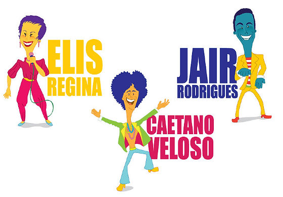Calendário MPB  Elis Regina, Caetano Veloso, Jair Rodrigues, Tim Maia, Nara Leão, Roberto Carlos, Milton Nascimento, Chico Buarque, Clara Nunes, Wilson Simonal e Jorge Ben