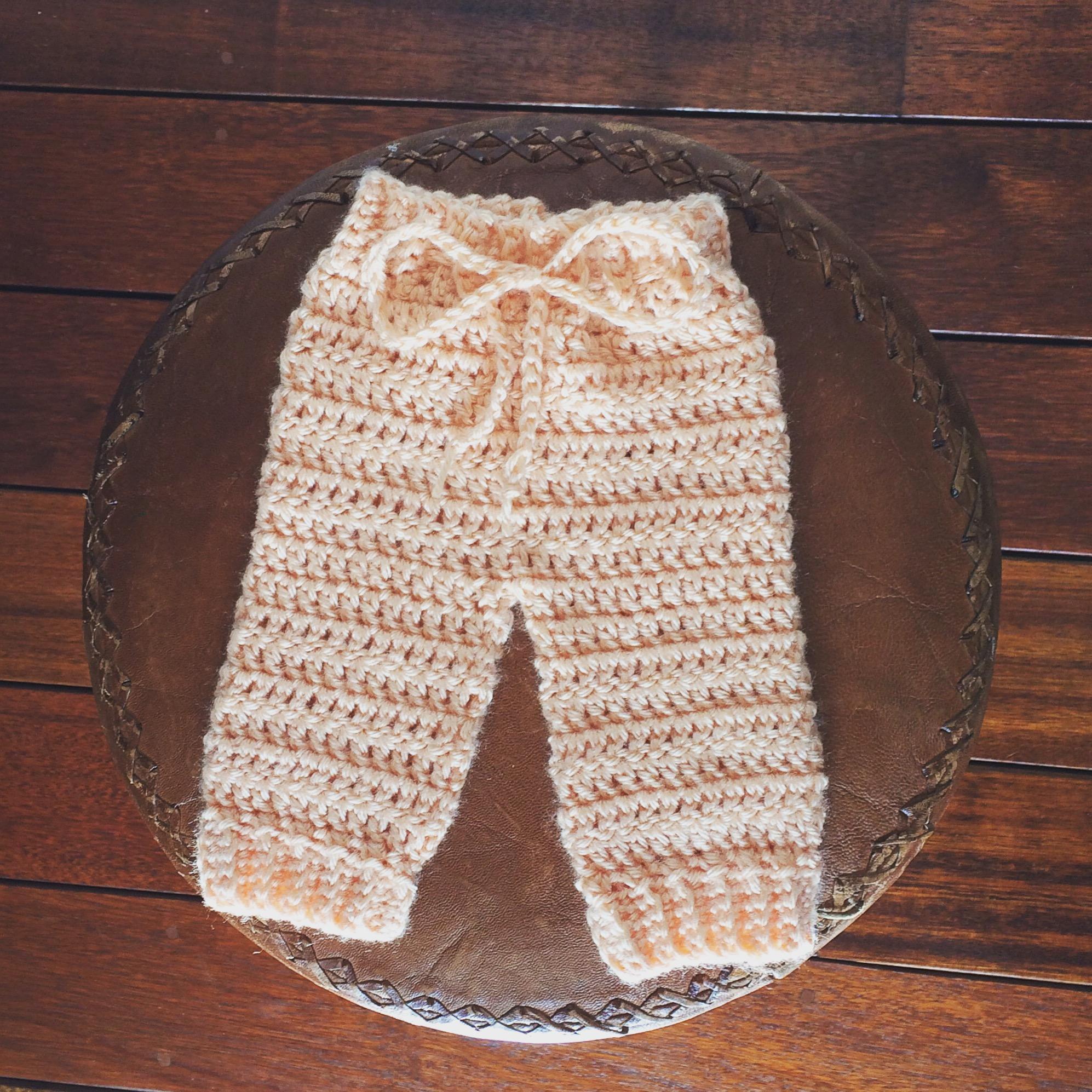 Newborn Crochet Pants Lovingly Crochet