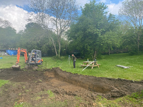 Pond Construction Day 1