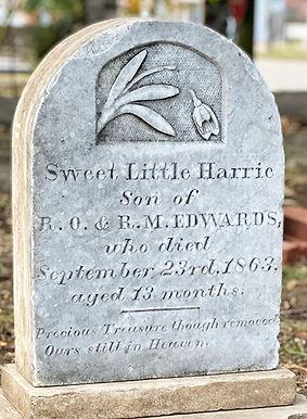 Harrie Edwards Headstone CU 12-3-2020.jp