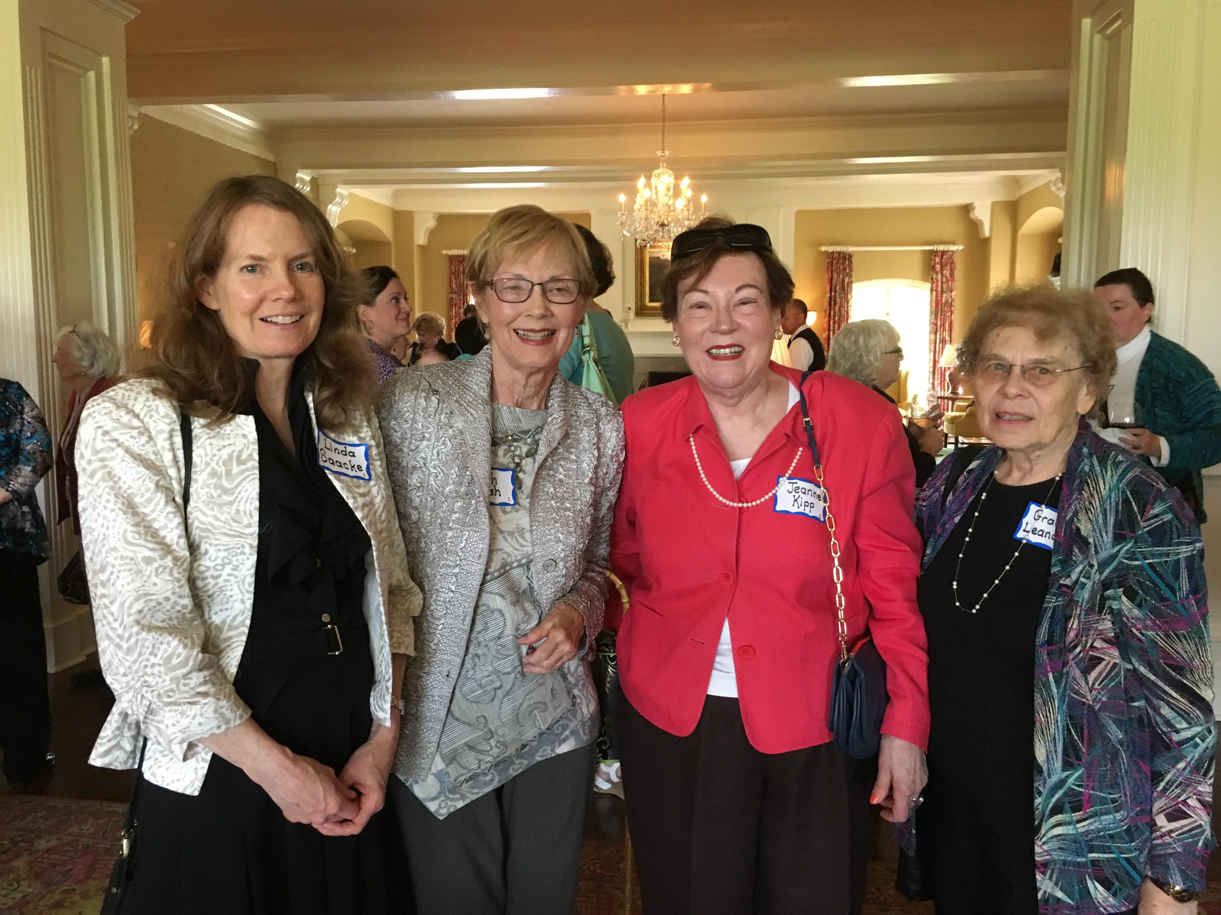 Linda Saacke, Ruth Hursh, Jeanne Kipp, Grace Leonard, Spring Luncheon 2017 IMG_1559