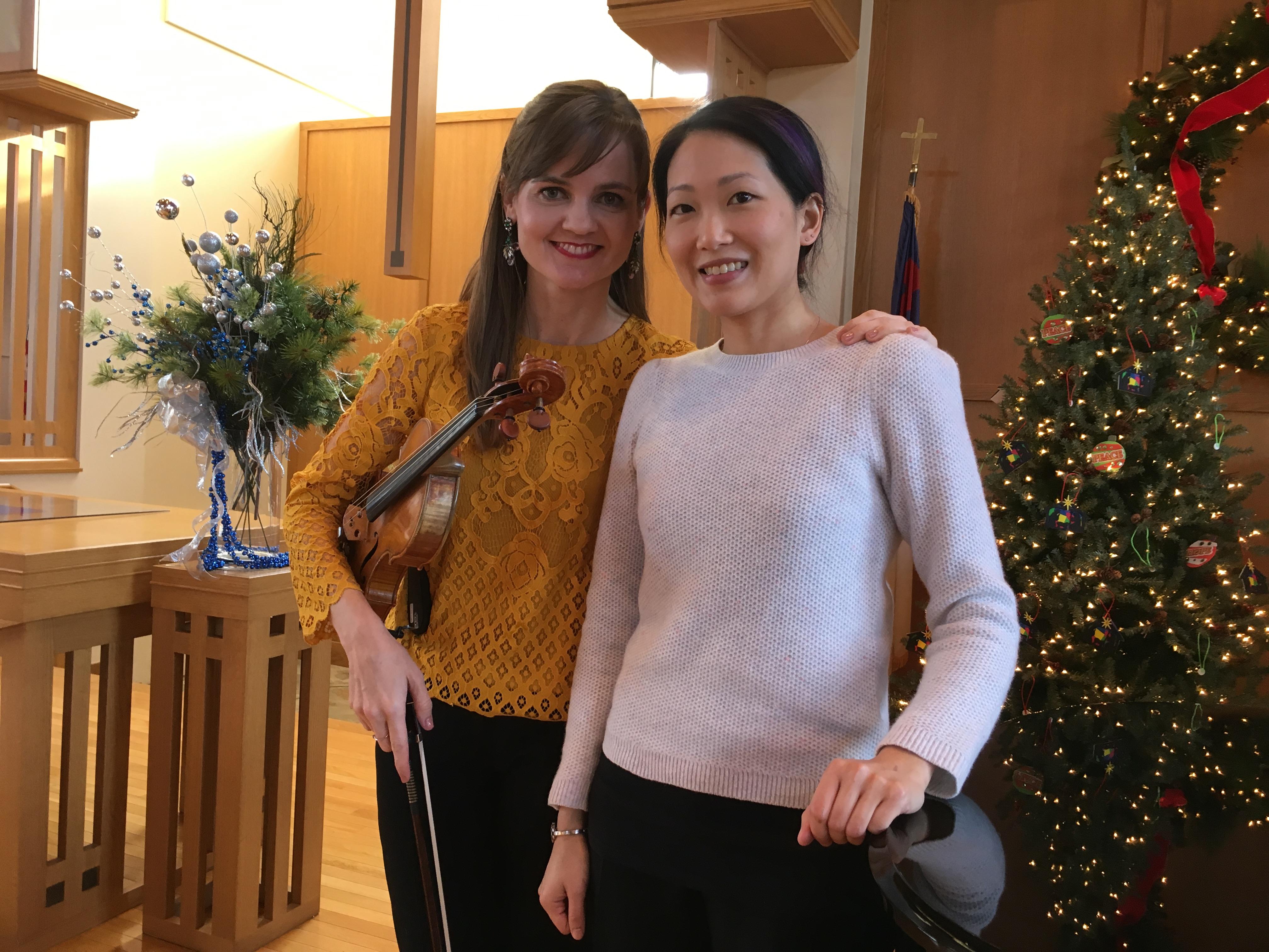 Kate Carter and Louise Chan closeup, Dec 14, 2016 IMG_1362