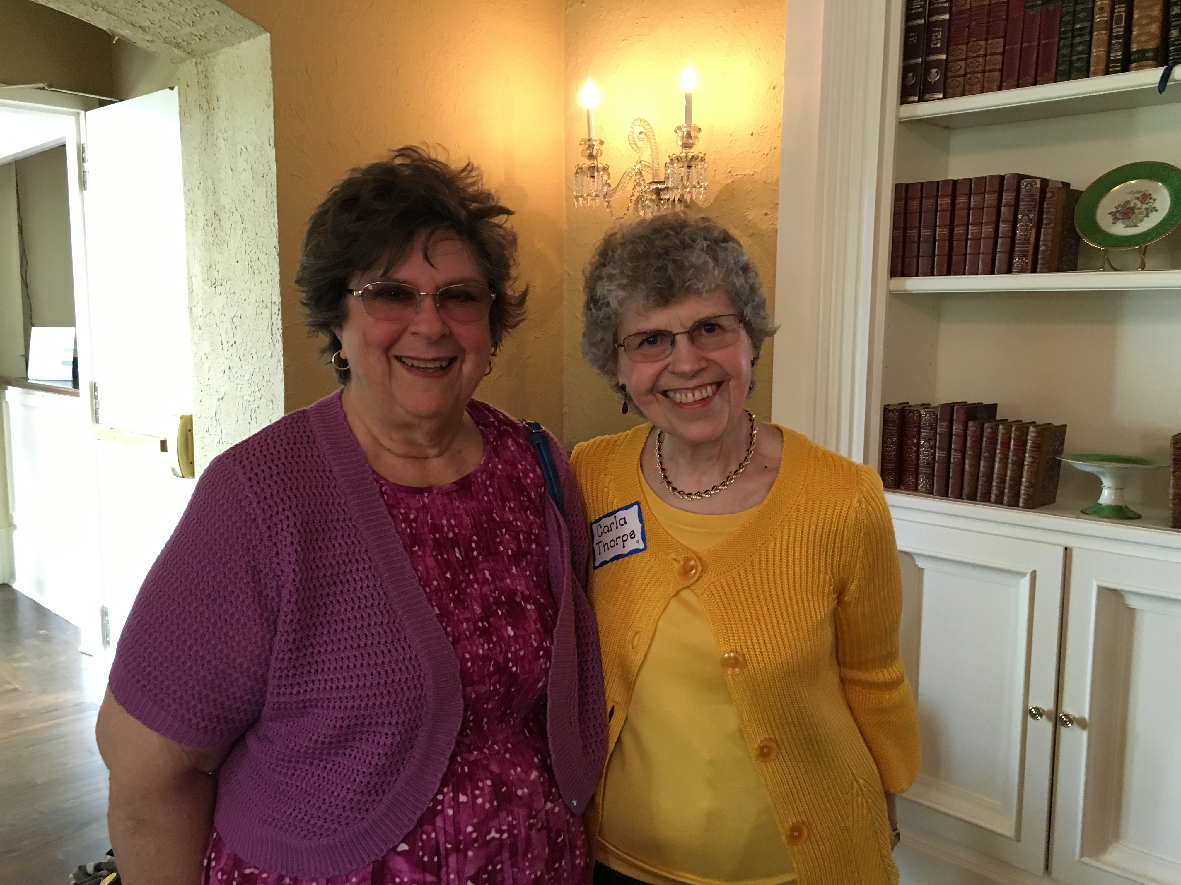 Elizabeth D., and Carla T., May Luncheon 2018