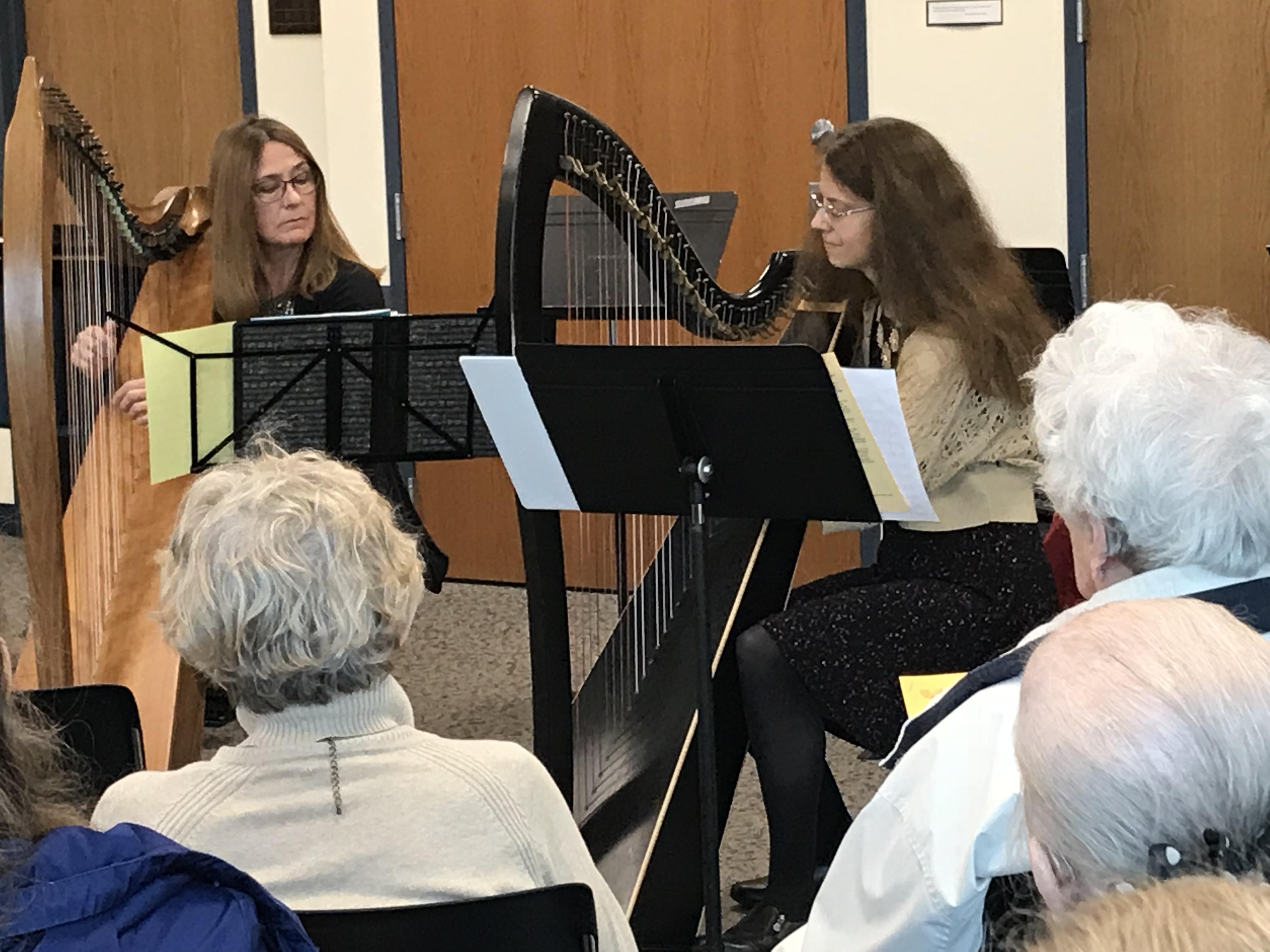 Gail Johnson, guest & Lisa Boggess, harp