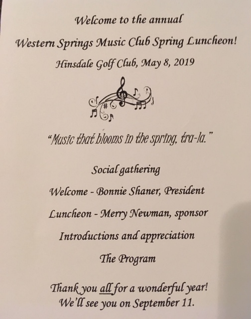 Program Pg. 1, May Luncheon