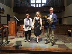 Joan Bentley Hoffman, Celeste Martino, Paul Seeley, April 2017 IMG_1537