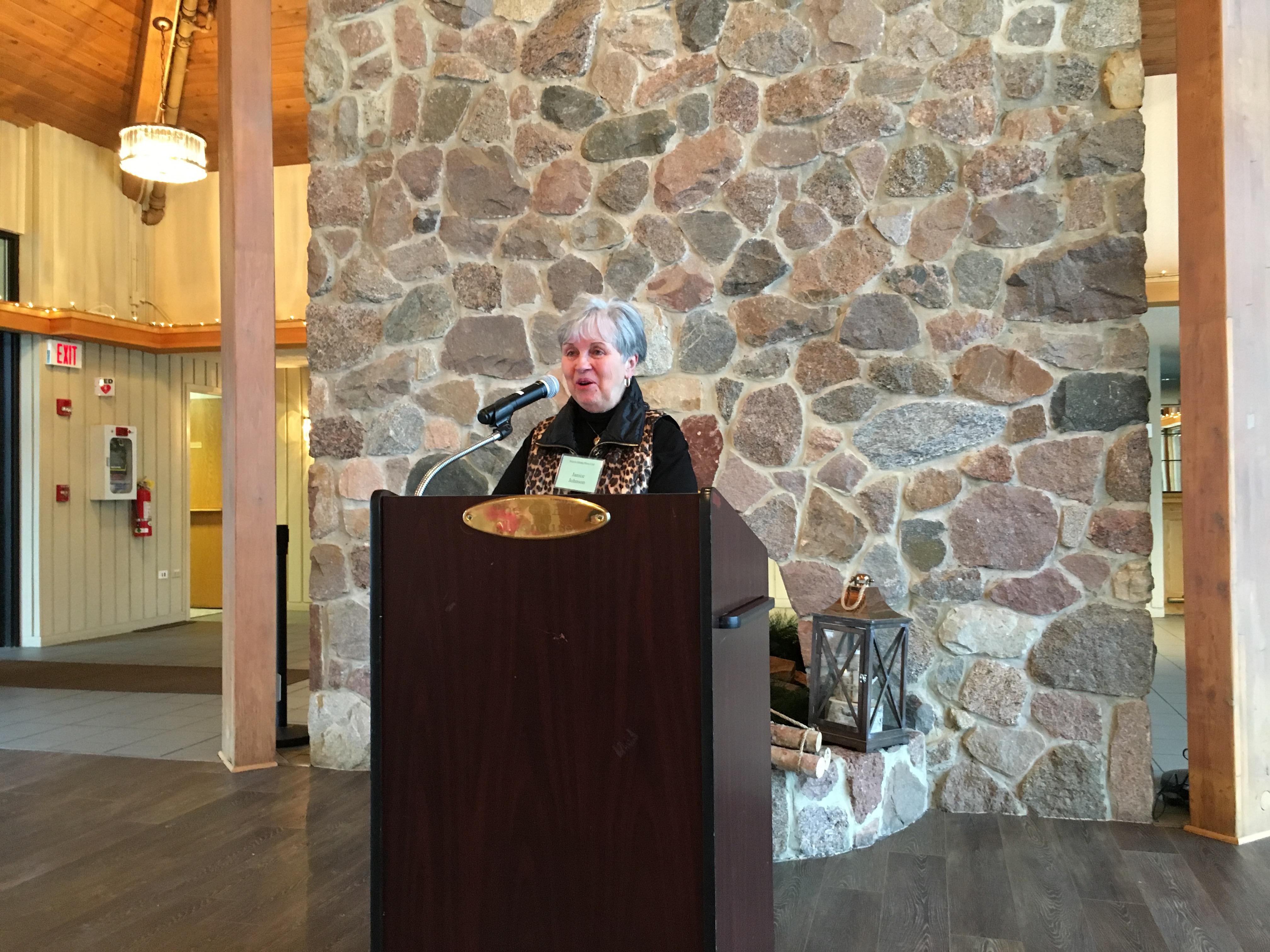 Janice Johnson, Jan. 2018 Meeting