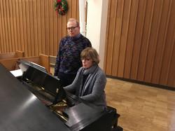 Joan Bentley Hoffman with Mike Surratt, Dec. 13, 2017