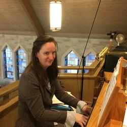 Heike Burghart-Rice2, organ, Nov 9, 2016 IMG_1328