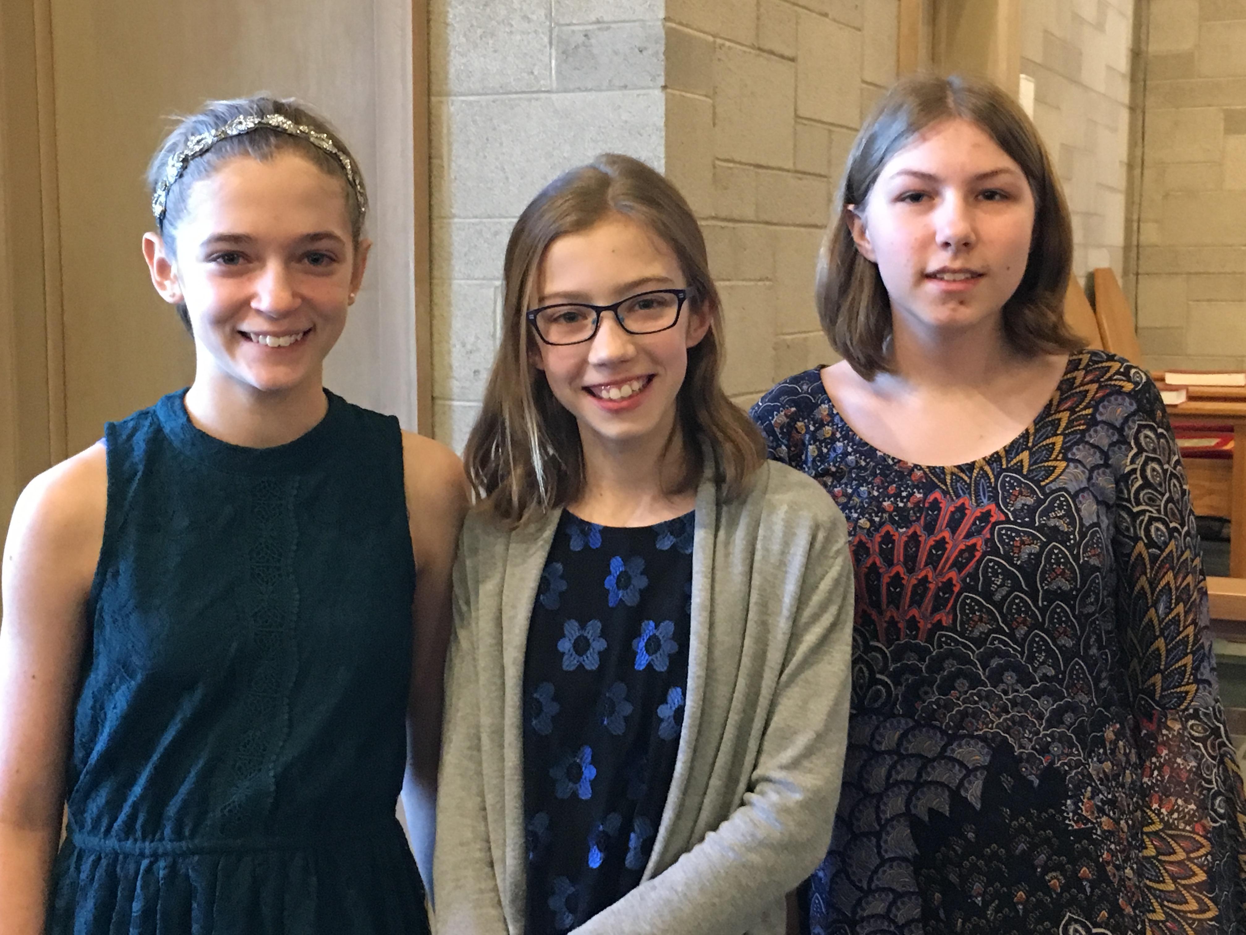Honors Recital 2017, Natalie Vlcek, Dorothy Peters, Anja Robbert