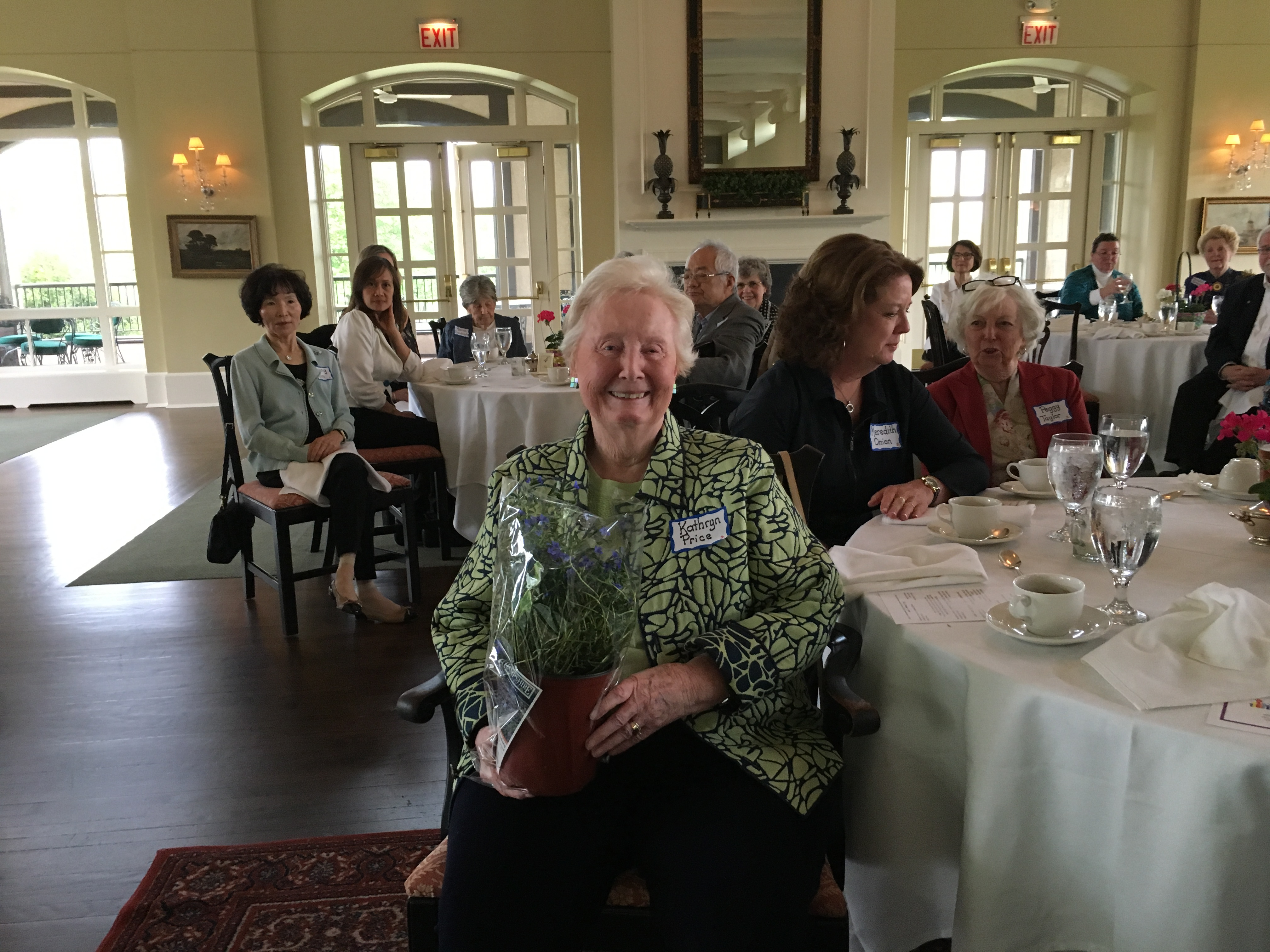 Kathryn Price & Peggy Taylor, Spring Luncheon 2017 IMG_1586