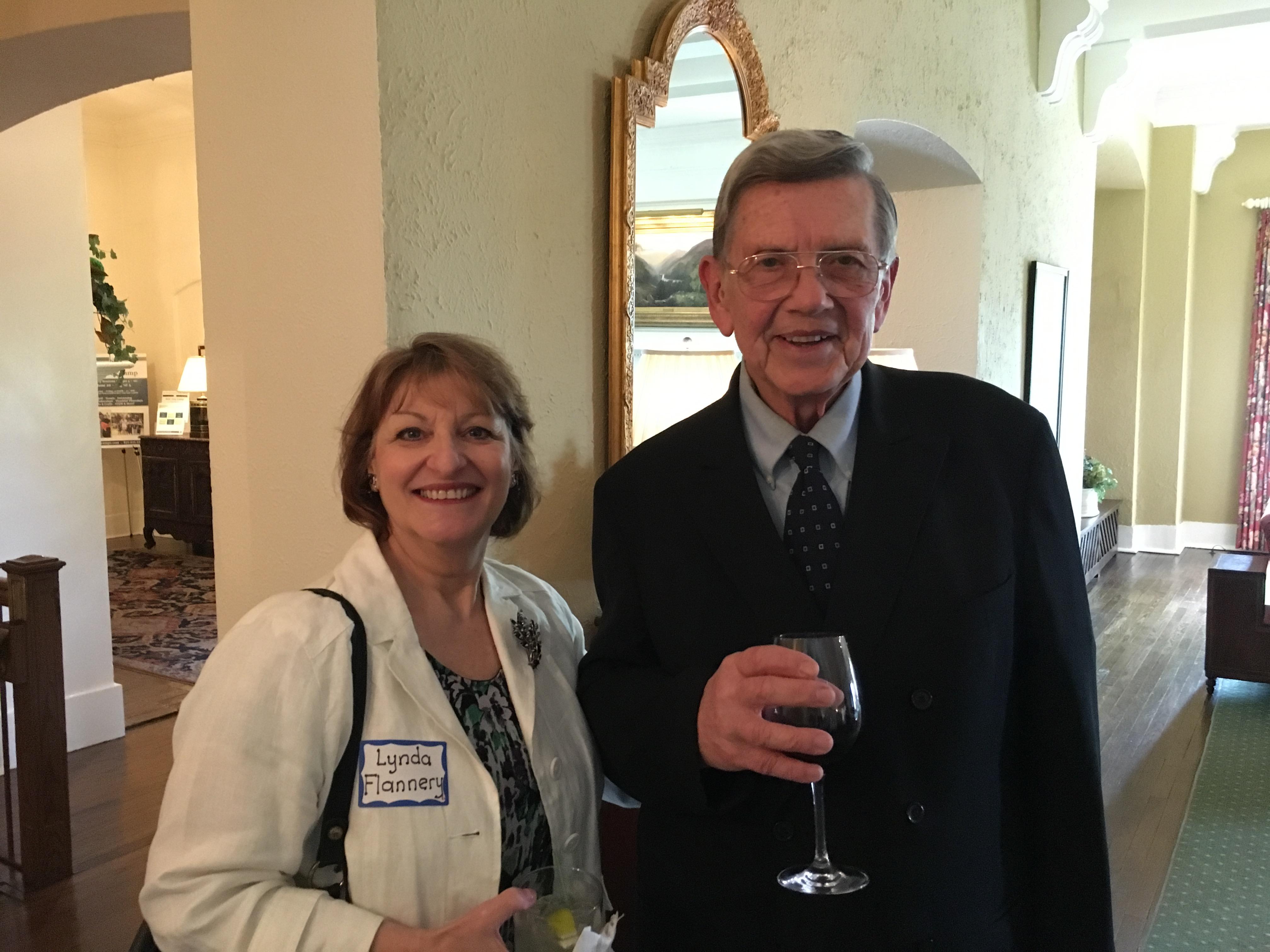 Lynda Flannery and Don Veverka, Spring Luncheon 2017 IMG_1564