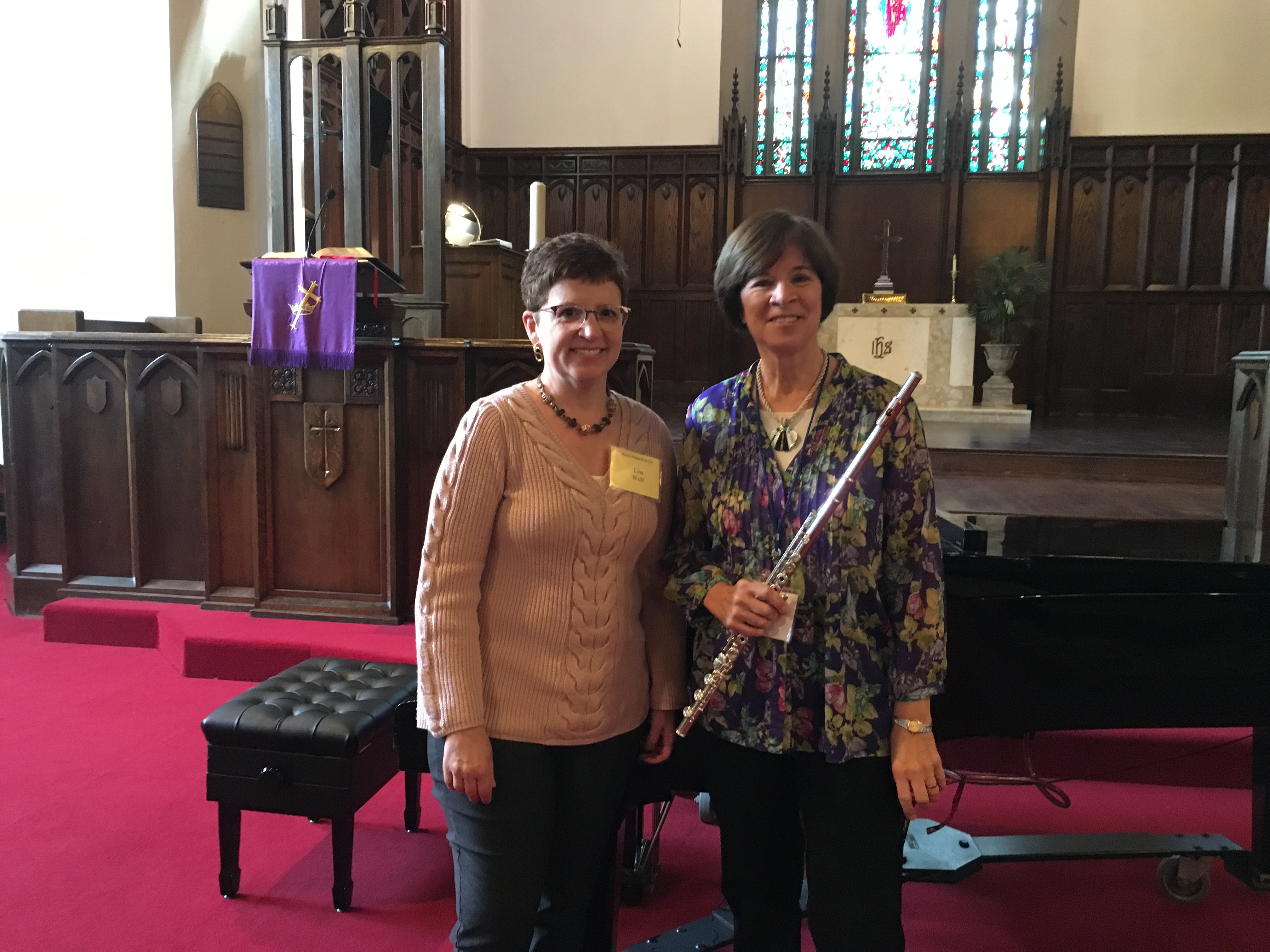 Karin Ursin with Lisa Wolf, March 14, 2018