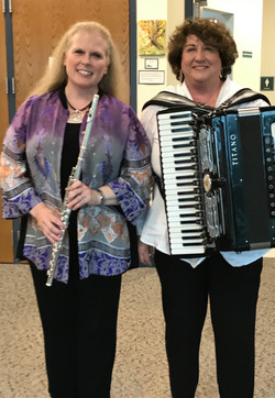 Guest flutist and Mary Ann Covone, Oct