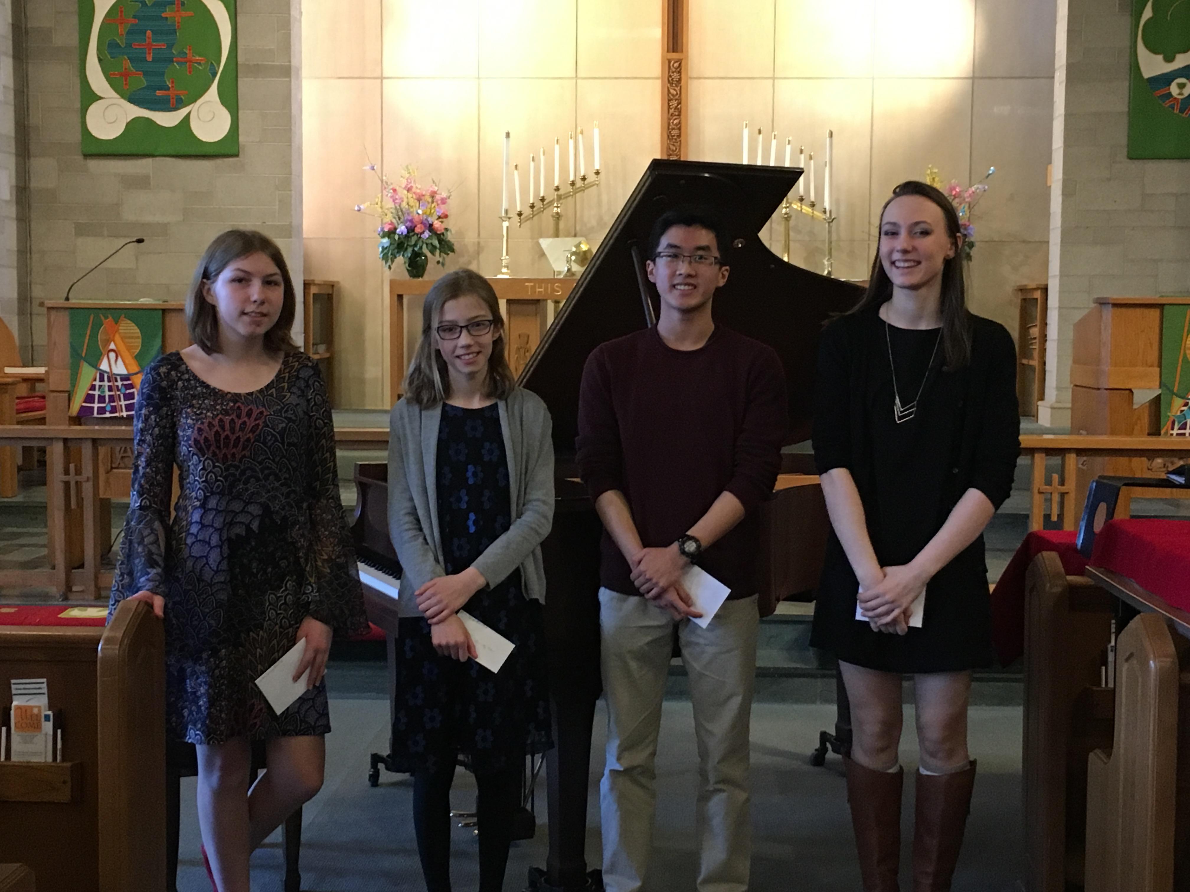 Honors Recital 2017, Anja Robbert, Dorothy Peters, Zachary Lin, Emma Dahl (2)