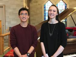 Honors Recital 2017, Zachary Lin, Emma Dahl